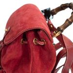 Gucci Red Suede Leather Backpack (2161900013601)