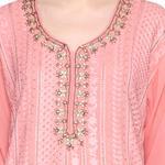 Pankhudii Pink Embroidered Palazzo Set (RAAS44)