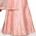 Pankhudii Pink Embroidered Designer Semistitched Lehenga Set  (RHYTHM14)