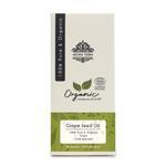 Aroma Tierra Organic Grape Seed Oil - 100% Pure, Virgin, Cold Pressed - 100 ml