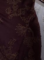Pankhudii Burgundy Embellished Saree with Unstitched Blouse (8709)