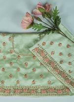 Pankhudii Green Embroidered Semi-Stitched Lehenga (76221)