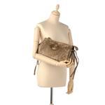 Gucci Brown Suede Hysteria Clutch Bag (FF9GUCL006)