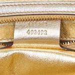 Gucci Gold & Beige Leather Princy Shoulder Bag (8KGUSH060)