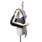 Burberry Black Embellished Leather Hobo Bag (9CBUHO011)