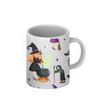 Halloween Witch Theme Coffee Mug - Multicolor