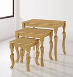 Jirawi 3Pcs Nesting Table- Gold