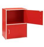 Delma 2 Door Storage Cabinet- Red