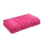 Lifestyle Plain Cerise Bath Towel - 70 x 140 Cm