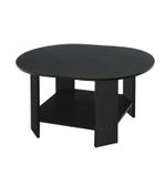 Emile Oval Coffee Table- Black