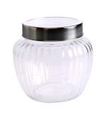 Bella Glass Jar & Metal Acrylic Lid- 590 ml