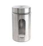 Bella Glass Jar With Stainless Steel Finish- 950 ml
