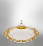 Acrylic Tray WIth Cover - Gold