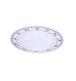 """Moments Lilac Rim Round Plate -  9"""""""