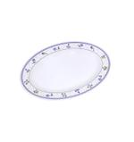 """Moments Lilac Oval Plate - 16"""""""