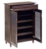 Nikki Shoe Cabinet With 2 Door & Drawer- Wenge