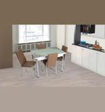 Floral 4 Seater Extendable Dining Set