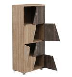 Contra Storage Cabinet-Oak & Black