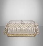 Acrylic Tray With Cover Golden Design