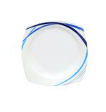 Moments Style Square Ocean Blue Rim Plate- 10.5""
