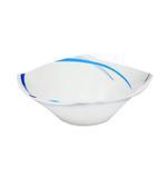"Moments Style Square Ocean Blue Rim Bowl- 9.5"""
