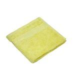 Bamboo Jacquard Patel Yellow Face Towel - 33 X 33 CM