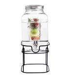 Bella Glass Jar Tin With Metal Stand Dispenser- 4L