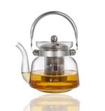 Heat Resistant Glass Teapot with Stainless Steel Handle 1200ml