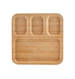 Fiesta Rectangular Wooden Tray With Partitions