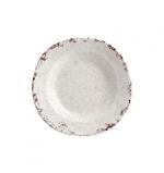 "Craquele Rustic Round Soup Plate 9"""