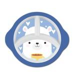 """Kids Bunny 10"""" 3 Compartment Oval Plate"""
