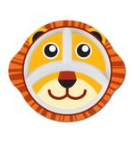 "Kids Tiger 10"" 3 Compartment Oval Plate"