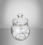 Arcylic Food Storage Canister Silver Design - Medium