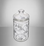 Acrylic Food Storage Canister Silver Design - Large