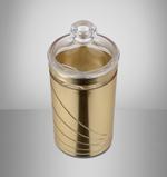 Acrylic Food  Storage Canister Golden Design - Large