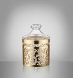 Acrylic Food Storage Canister Golden Design With Lid -Small