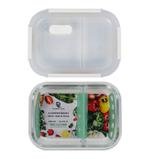Food Keeper Glass (1000 ML) With 2 Compartment