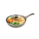 Eminent Induction Base Wok With Glass Lid-26 x 8 Cm