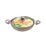 Eminent Forged Wok Long Handle With Glass Lid- 28 x 8.5 cm