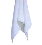 Double Border White Face Towel- 30x30 cm