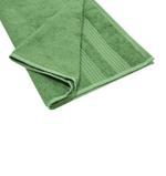 Double Border Turf Green Face Towel- 30x30 cm