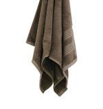Double Border Coffee Face Towel- 30x30 cm