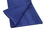 Double Border True Navy Face Towel- 30x30 cm