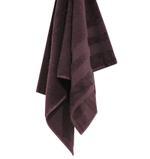 Double Border Dark Burgundy Face Towel- 30x30 cm