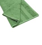Double Border Turf Green Hand Towel- 50x100 cm