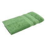 Double Border Turf Green Bath Towel- 70x140 cm