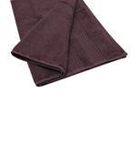 Double Border Dark Burgundy Bath Towel- 70x140 cm
