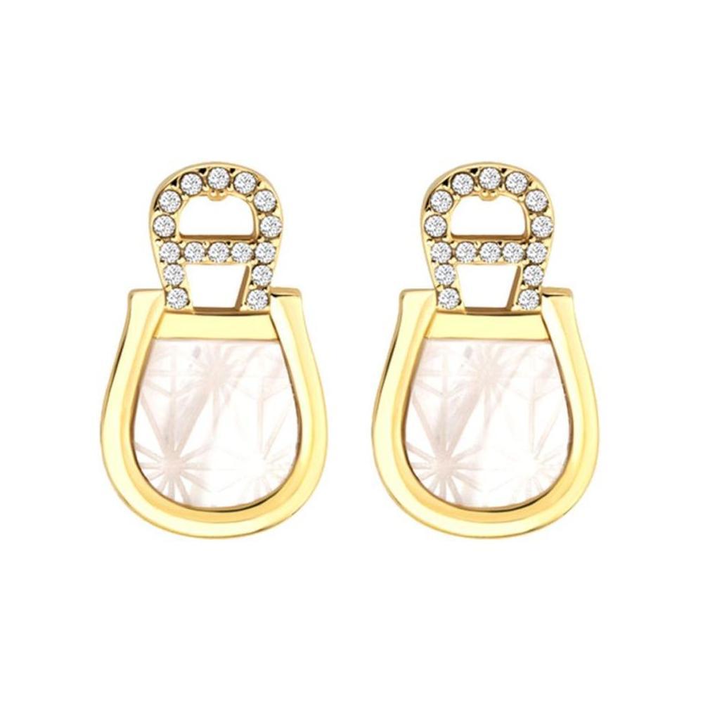 Aigner Logo Detail Stud Earrings-M AJ690126
