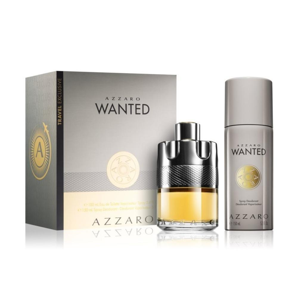 Azzaro Wanted For Men EDT 100ml+150ml Deodorant Travel Set