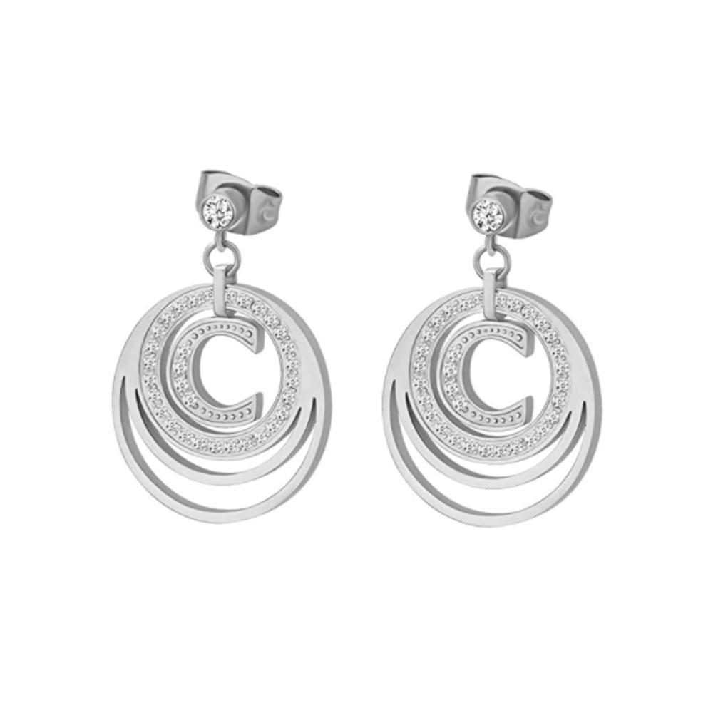 Cerruti 1881 Silver Stainless Steel Earrings For Women - CRJ E063SN